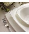 Karaca Fine Pearl Belha 62-teiliges quadratisches Perlmutt Dinner-Set für 12 Personen