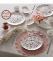 Karaca Lovely Pink Frühstücks- Set, 26- teilig für 6 Personen